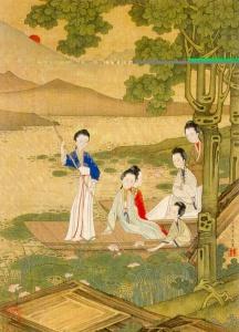 Painting from album Court Ladies by Jiao Bingzhen